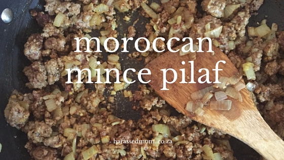 Moroccan Mince Pilaf