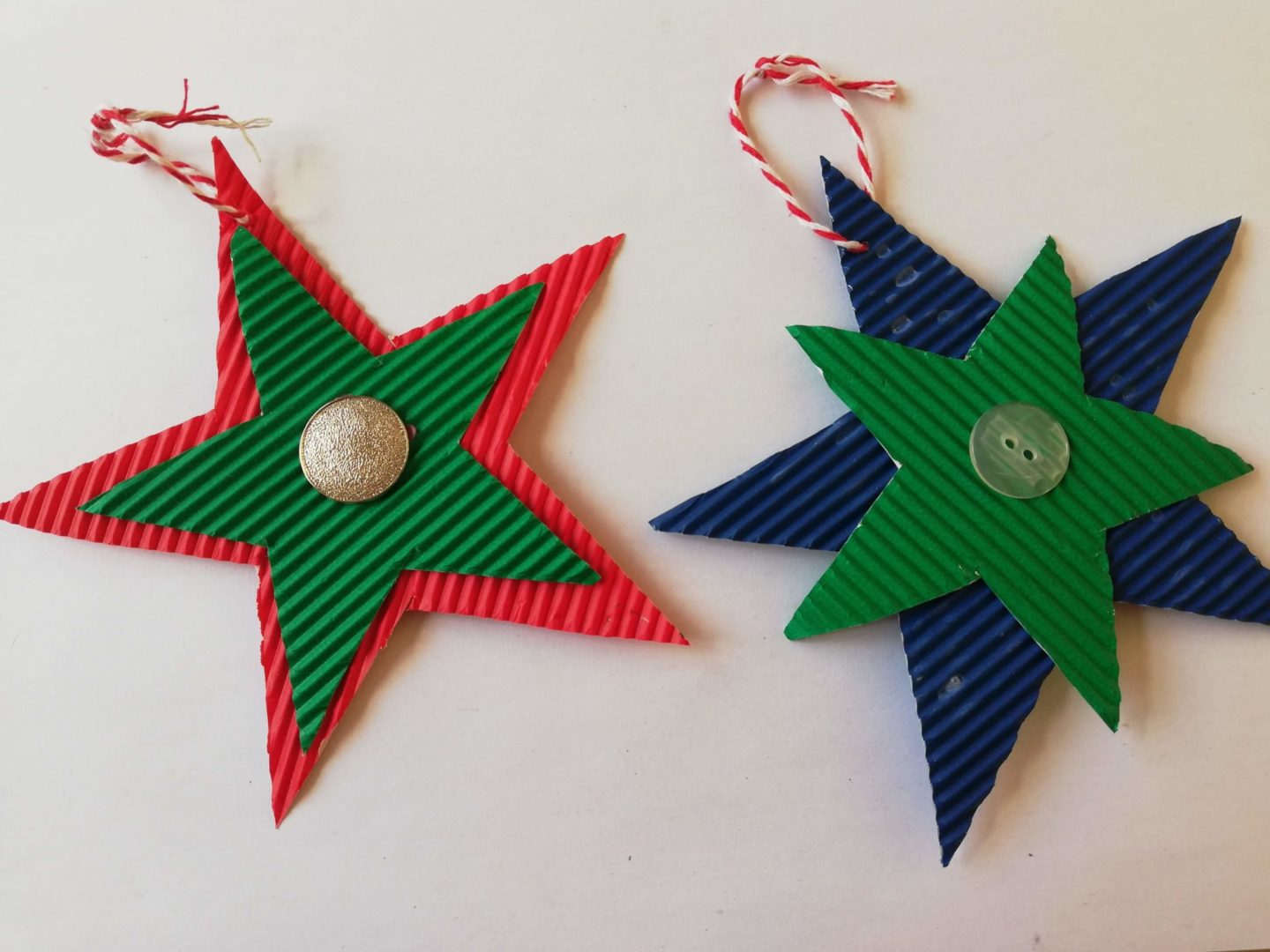 DIY Paper Christmas Stars - perfect for kids | HarassedMom
