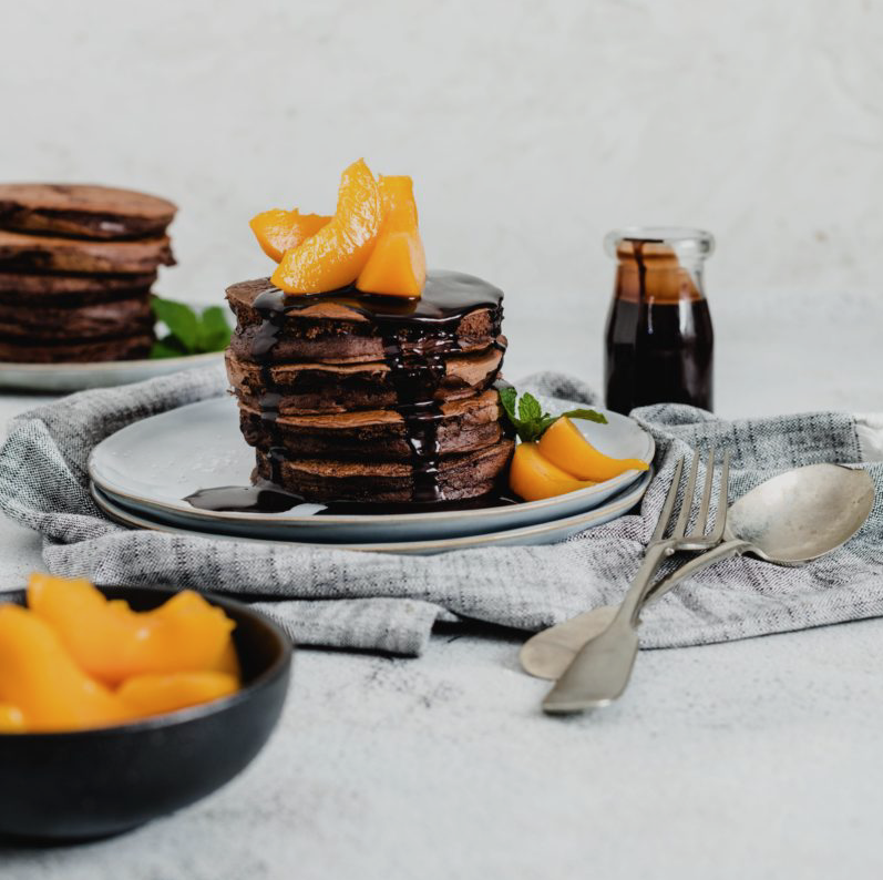 Chocolate Pancakes for Mothers Day | HarassedMom