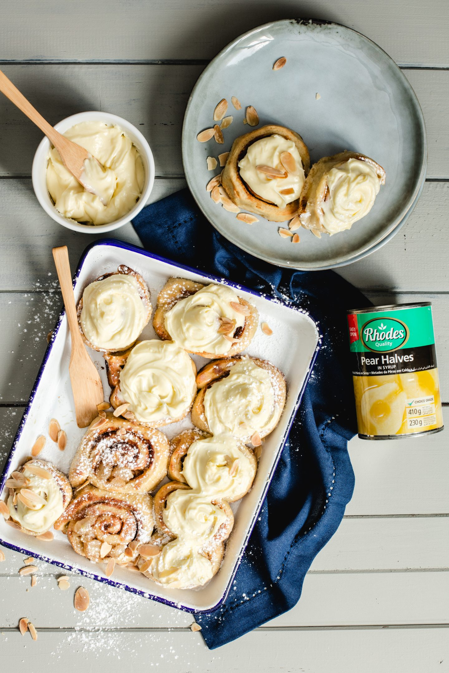 Pear and Ginger Cinnamon Buns with HarassedMom