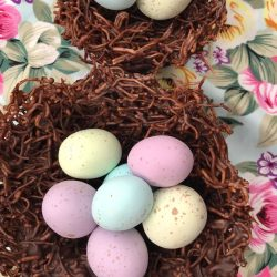 Chocolate Vermicelli Nests Perfect For Easter | Sustainable Baking with HarassedMom